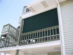 Solar shade on a deck