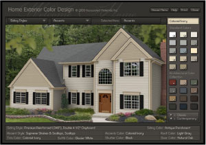 Home Exterior color design screenshot