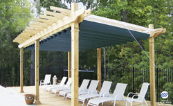 Pergola and Canopy awnings for your backyard in Davenport Iowa ... - Pergola Sliding Shade